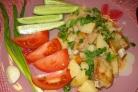 Картофель тушеный с ребрышками
