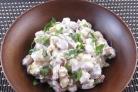 Салат с беконом и сыром