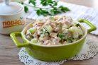 Салат с яйцом, тунцом и огурцом