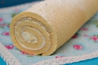 Рулет бисквитный с творожным кремом