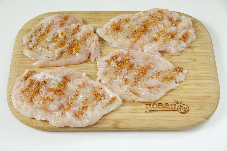 Слоеная куриная грудка