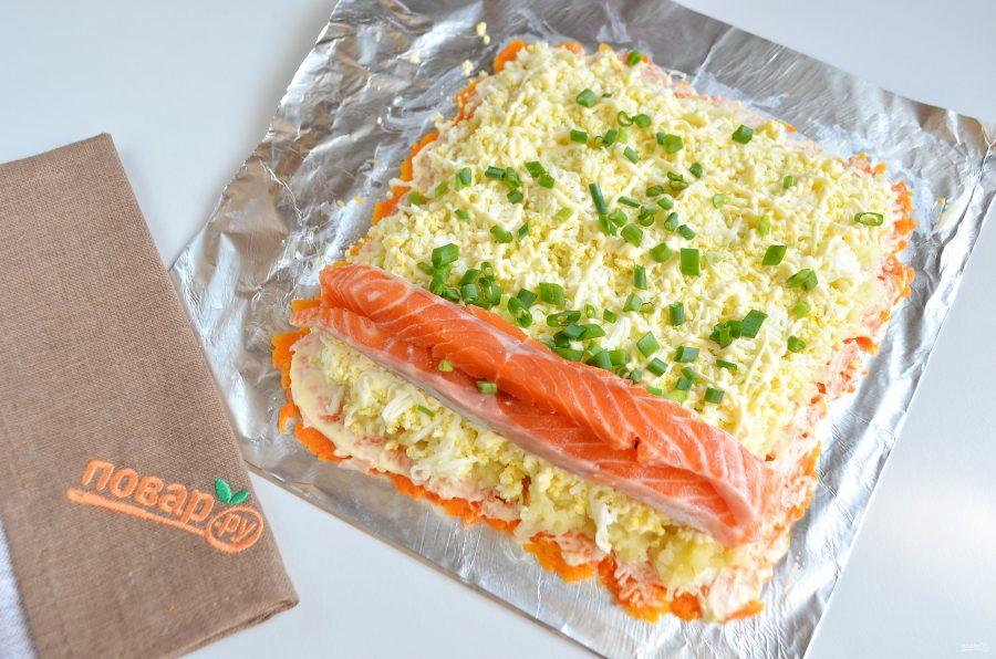 Как приготовить салат с рыбой на Новый год