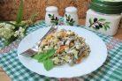 Салат с желудками индейки