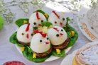 Закуска на Пасху Цыплята на шампиньонах
