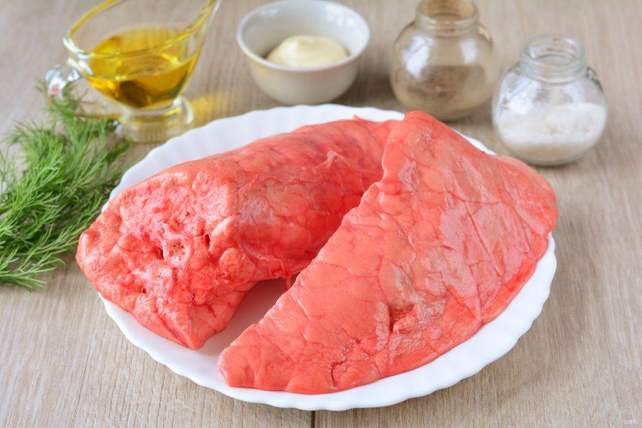 Салат из свиного легкого