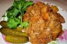 Свинина с капустой и картошкой