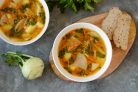 Суп с кольраби