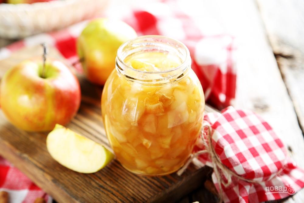Яблочное варенье с кусочками яблок
