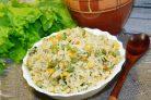 Рисовый гарнир с горошком и кукурузой