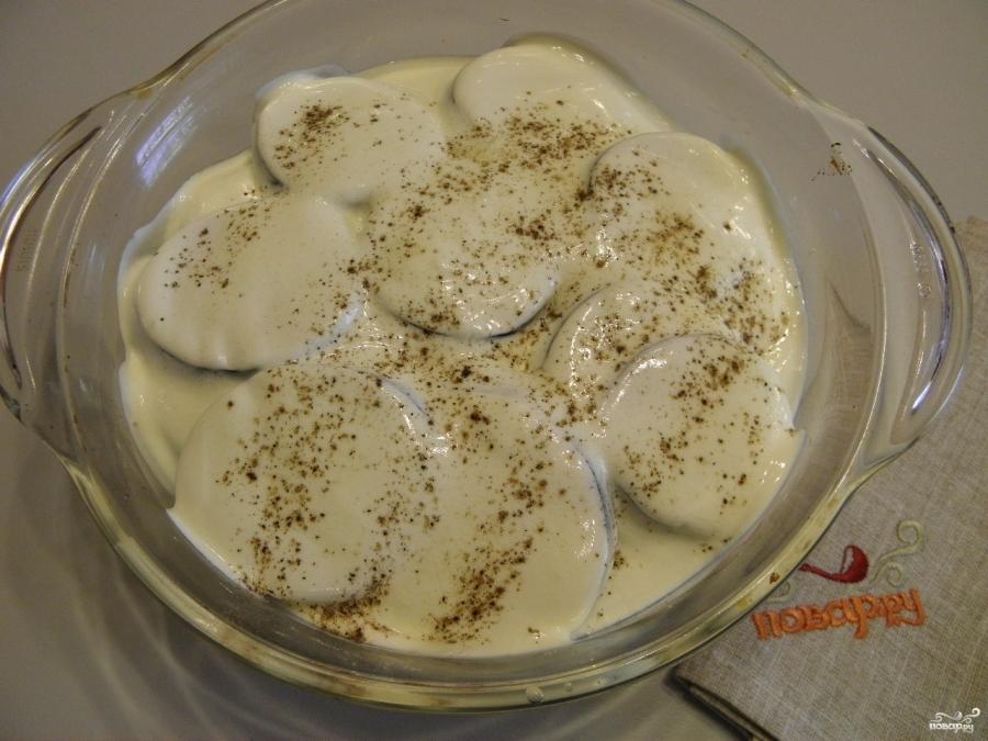 Баклажаны с фаршем и картошкой