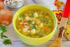 Суп с фасолью и кабачками
