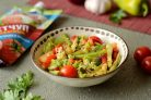 Картофельный салат с кетчупом