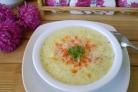 Сыроедческий суп из кабачков