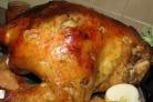 Фаршированная курица черносливом и курагой