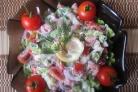 Салат из соленой семги