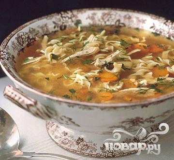 Рецепт Куриный суп с лапшой 2