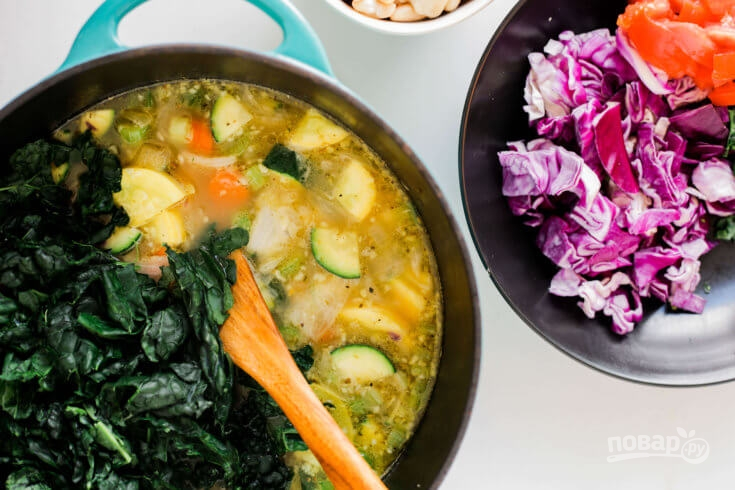 Суп из фасоли без мяса