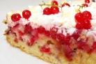 Сладкий пирог со смородиной