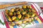 Печеная молодая картошка