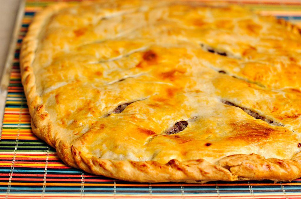 наливной мясной пирог в духовке рецепт
