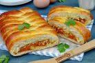 Пирог с морковью и яйцом