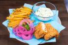 Английская уличная еда Fish&chips