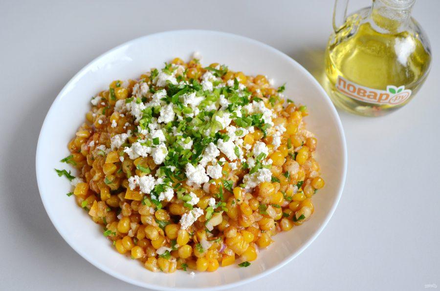 Мексиканский салат из кукурузы