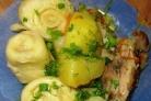 Штрудель с курицей и картошкой