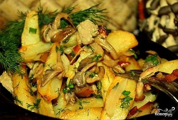 грибы вешенки жареные рецепт с фото пошагово #13
