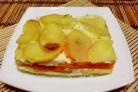 Картофельная запеканка с тыквой постная