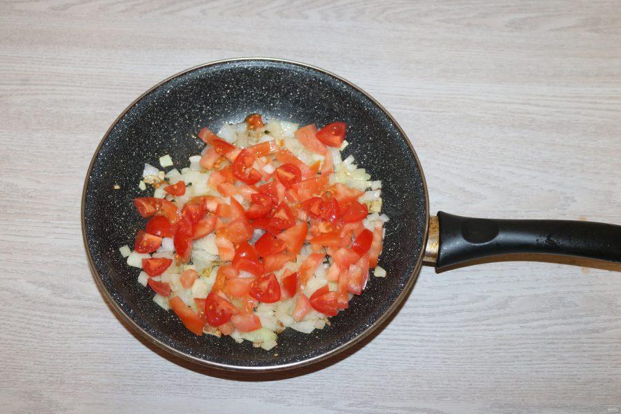 Салат с баклажанами и фасолью