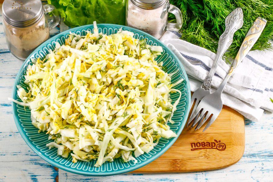 Салат с капустой и сыром - пошаговый рецепт с фото на Повар.ру