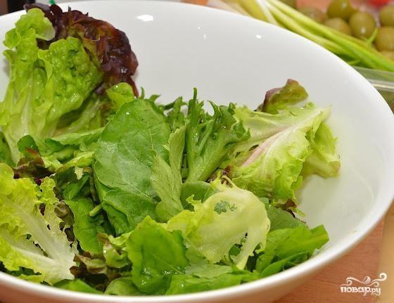 Греческий салат с креветками