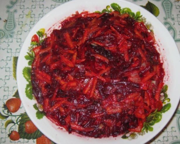 Заправка для борща на зиму с томатной пастой