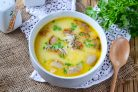 Суп со шкварками