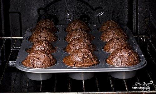 Шоколадный кекс пятиминутный
