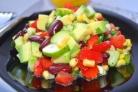 Салат с фасолью консервированной