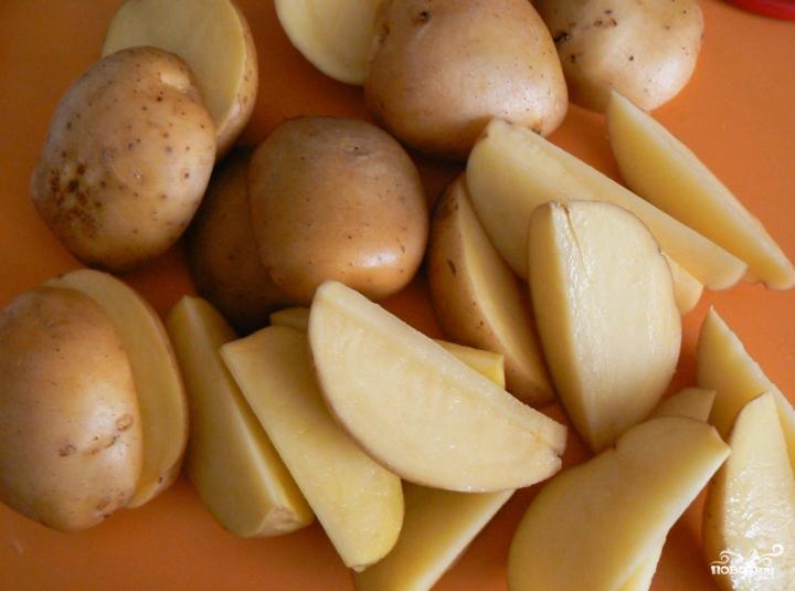 Утиные окорочка с яблоками в духовке