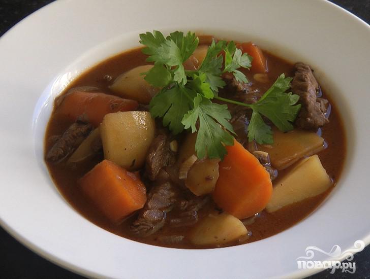 Рецепт Тушеная говядина по-английскому рецепту