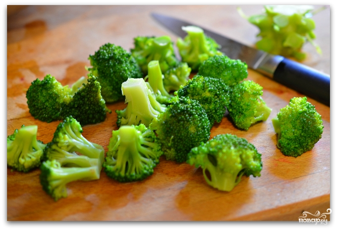 брокколи тушеные с овощами