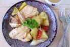 Курица с картошкой и овощами в духовке