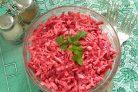 Салат Розовый фламинго с крабовыми палочками