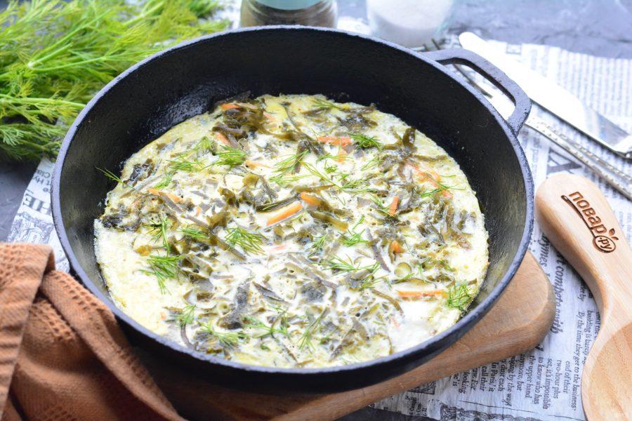 Омлет с морской капустой