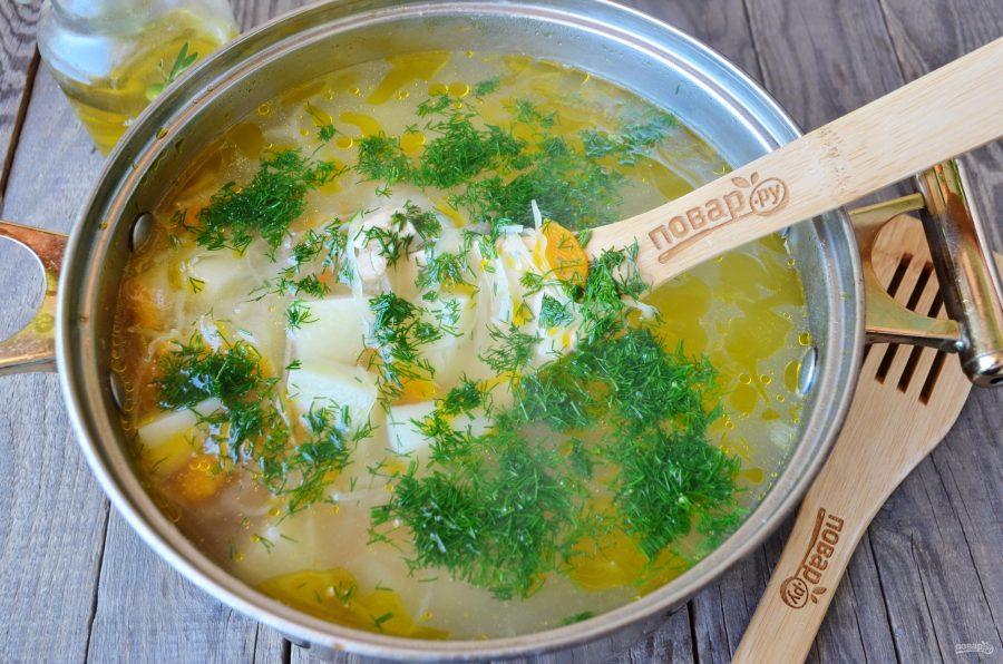 Суп с курицей и квашеной капустой