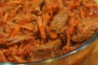 Мясо, тушеное в мультиварке Поларис