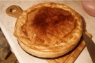 Пирог с мясом из слоеного бездрожжевого теста