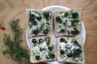 Горячие бутерброды с зеленью и оливками