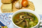 Суп вермишелевый с грибами