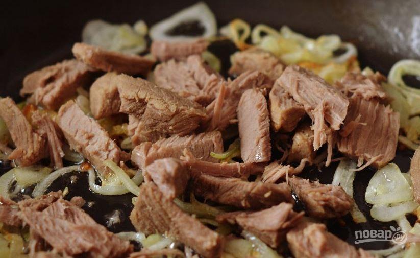 Легкий мясной салат