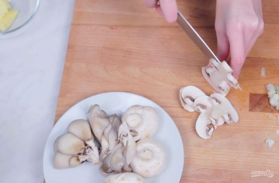 Сливочно-грибной суп за 15 минут